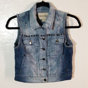 Chocolate U.S.A. Distressed Jean Vest
